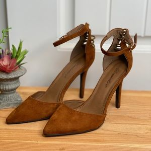 Cute Suede Strapped Heel